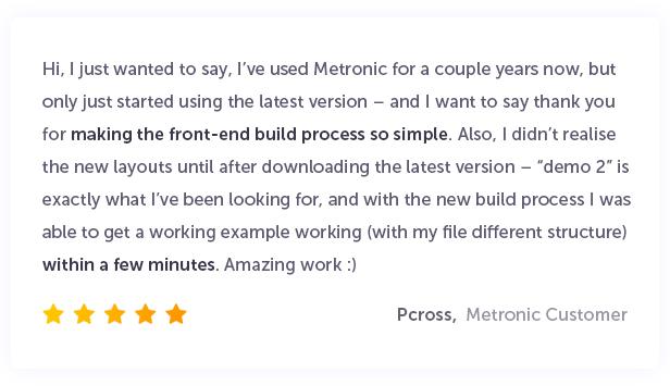 Metronic - Responsive Admin Dashboard Template - 8