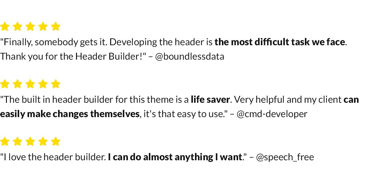 Header Builder