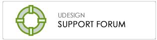 U-Design Support Forums