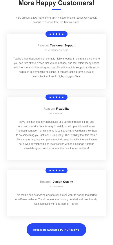 Total WordPress Theme Great Reviews