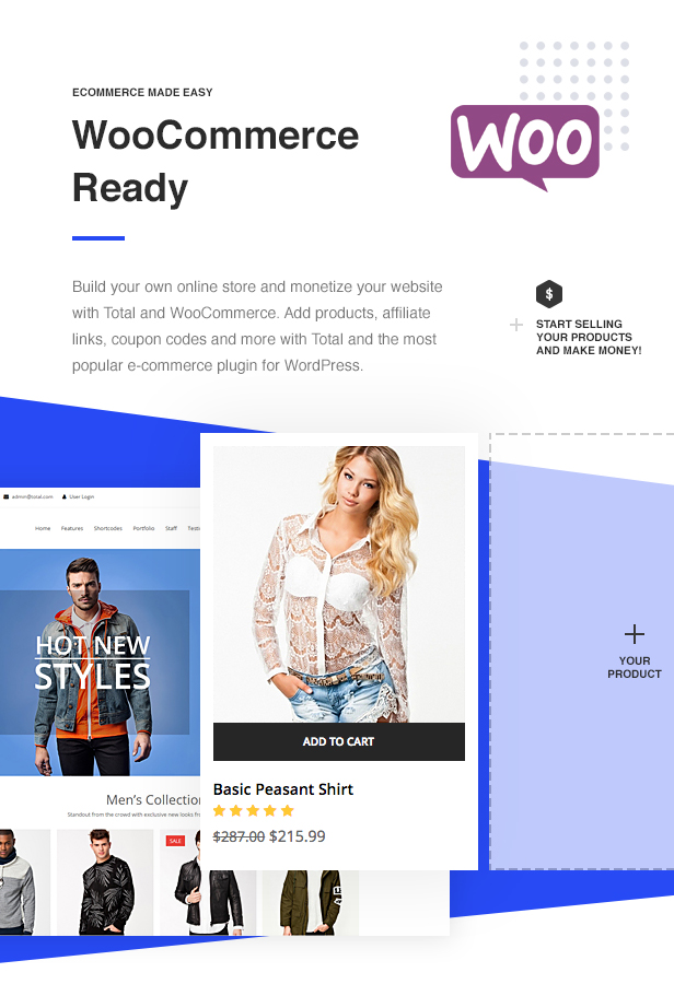 Total WordPress Theme WooCommerce Ready