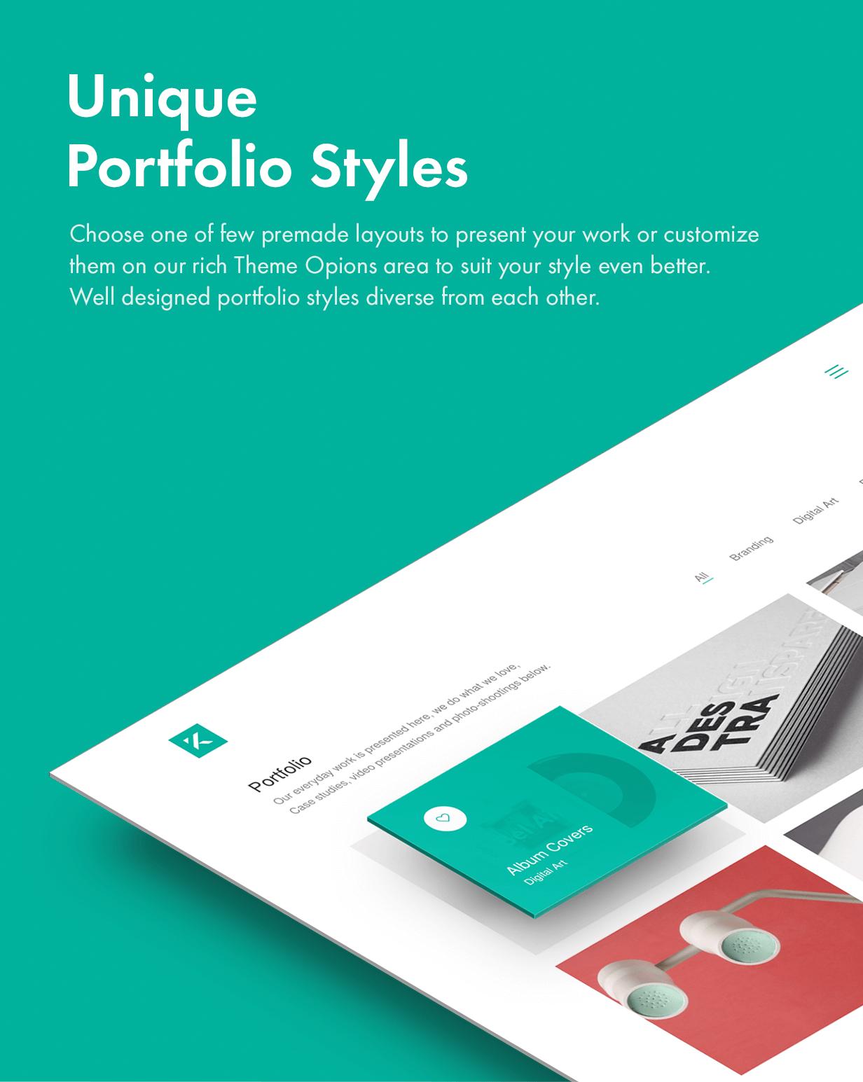 Unique Portfolo Styles