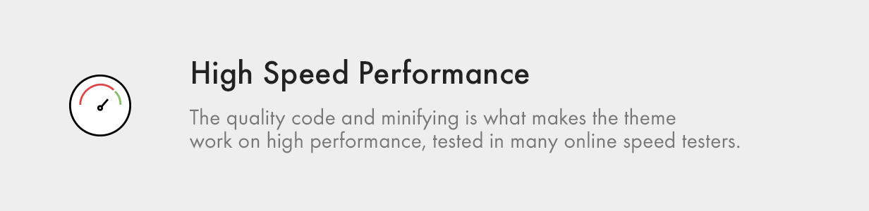 High Speed Performance