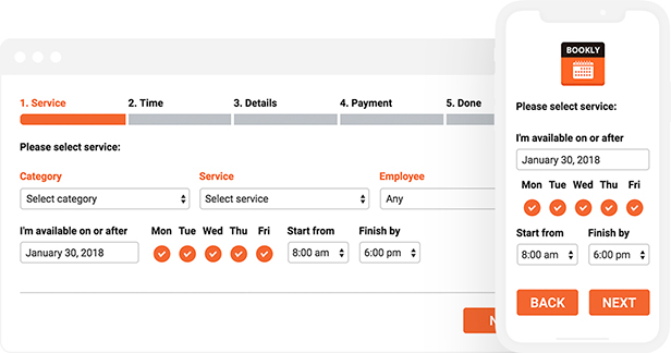 Bookly PRO –Appointment Booking and Scheduling Software System - 19