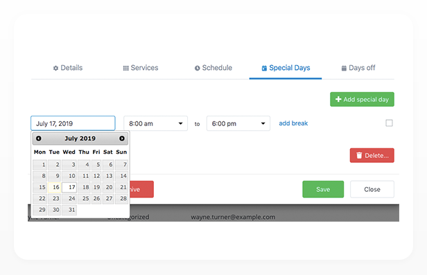 Bookly PRO –Appointment Booking and Scheduling Software System - 344