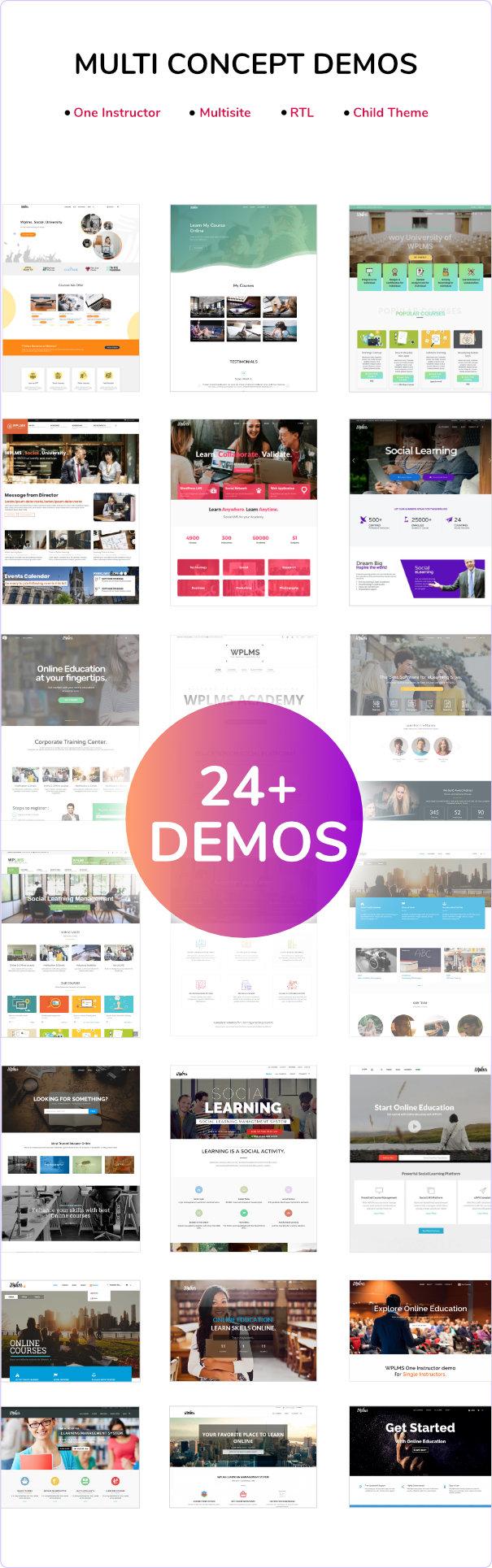 WPLMS new Demos