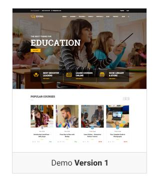 Education WordPress theme - Demo 1