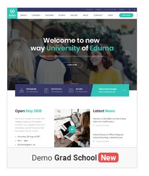 Education WordPress theme - Grad School