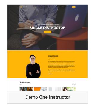 Education WordPress theme - Demo one instructor
