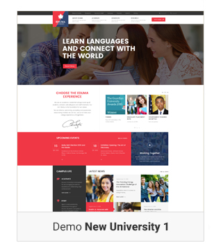 Education WordPress theme - New Demo University 1