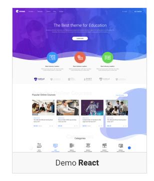 Education WordPress theme - Demo React
