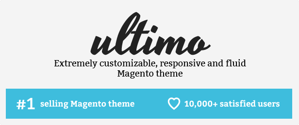 Ultimo best-selling responsive Magento theme