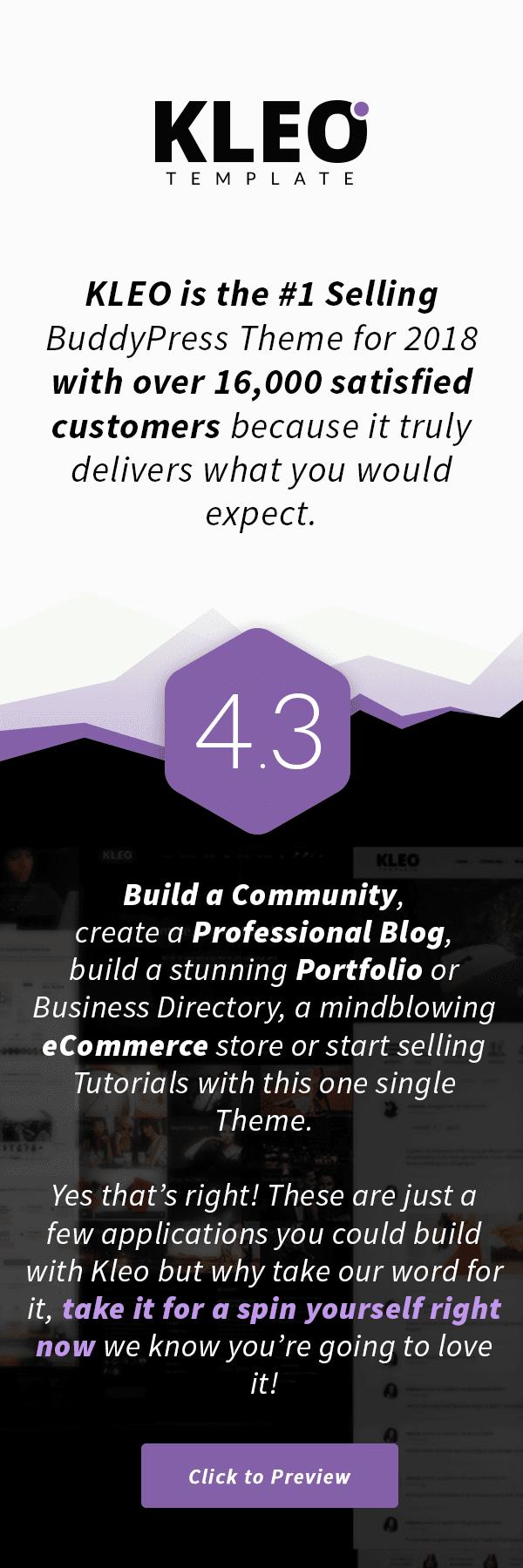 KLEO - Pro Community Focused, Multi-Purpose BuddyPress Theme - 1