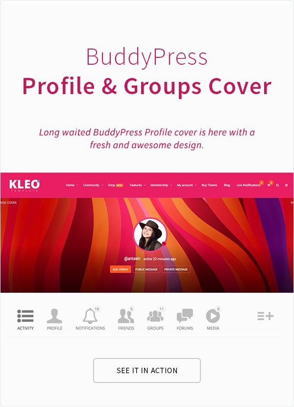 KLEO - Pro Community Focused, Multi-Purpose BuddyPress Theme - 13