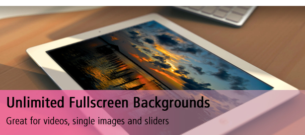 Unlimited Fullscreen Backgrounds