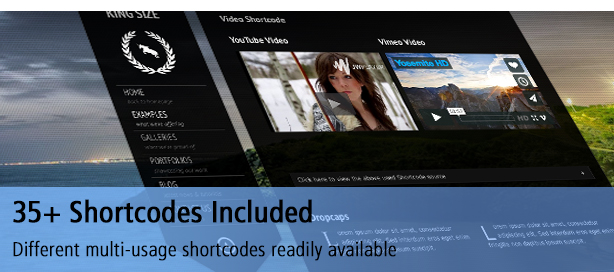 35 Unique Shortcodes Available