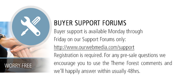 Buyer Support Forums Available