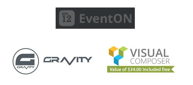 EventON, Visual Composer, GravityForms