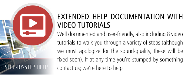 Extended Documenation and Video Tutorials