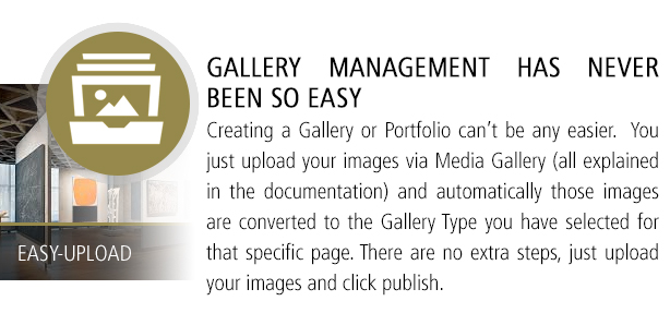 Easy to Use Gallery Management
