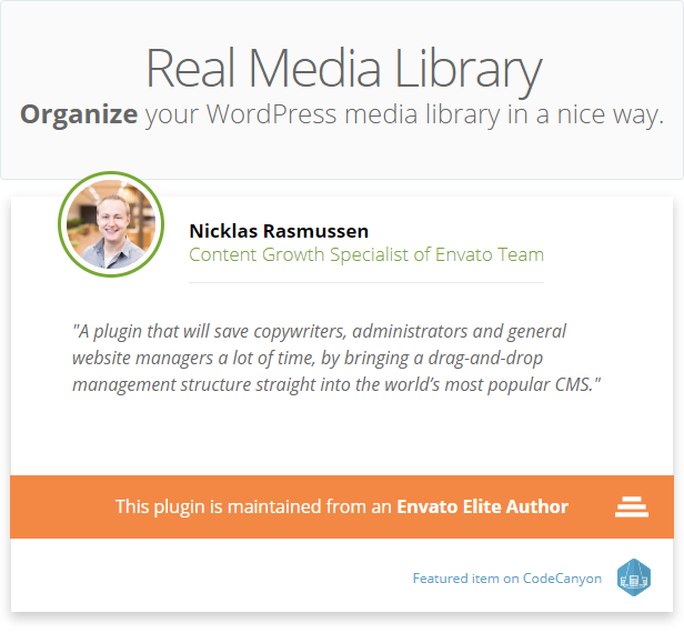 WordPress Real Media Library - Media Categories / Folders File Manager - 5