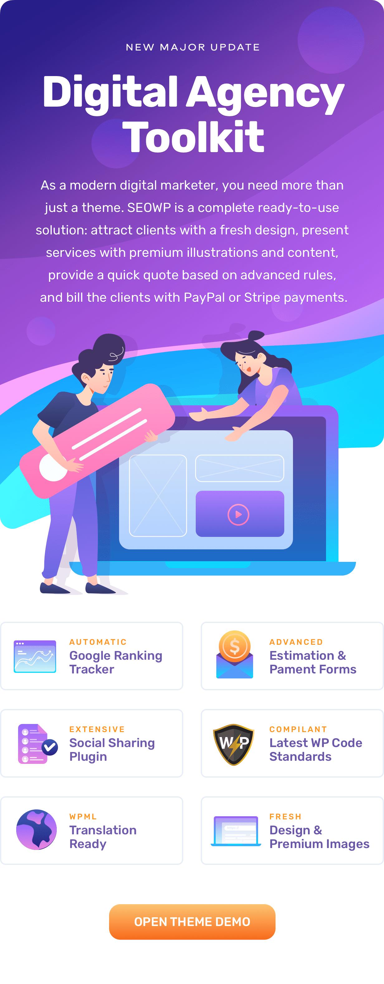 SEOWP | SEO & Digital Agency WordPress Theme - 1
