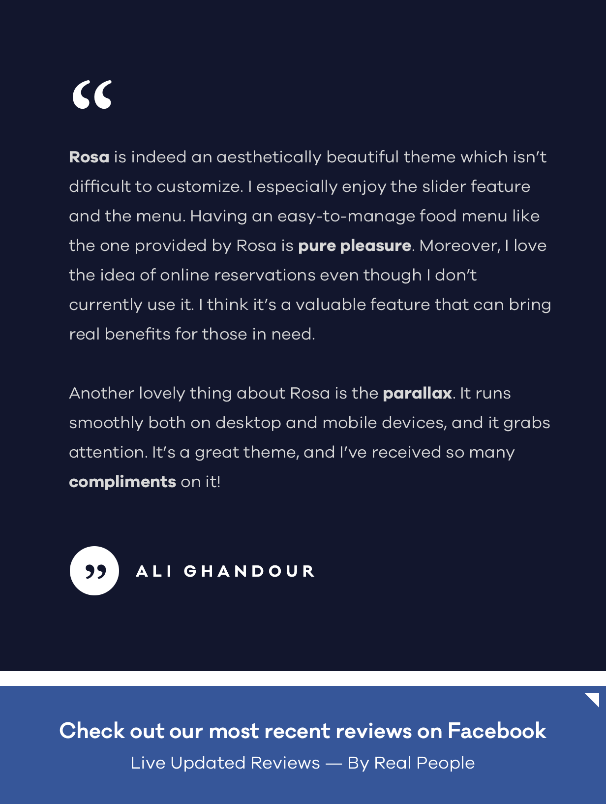 ROSA 1 - An Exquisite Restaurant WordPress Theme - 10