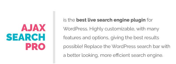 Ajax Search Pro - Live WordPress Search & Filter Plugin - 2
