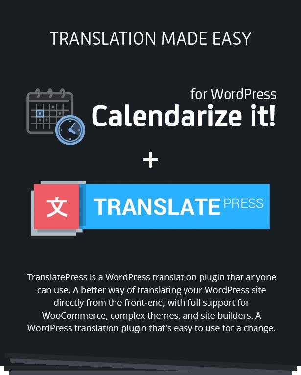 Calendarize it! + TranslatePress - Translation Made Easy