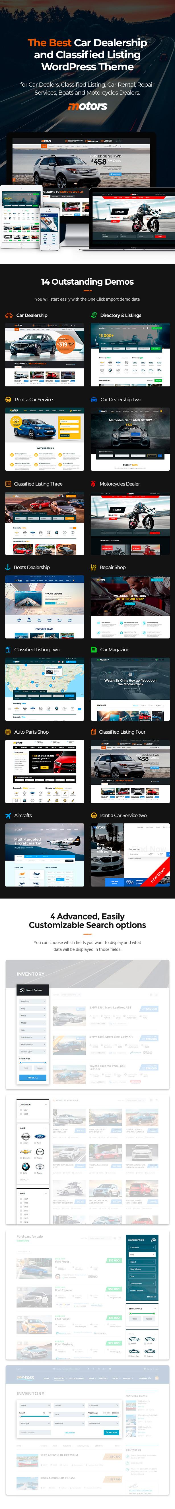 Motors - Car Dealer and Rental, Classified WordPress theme - 4