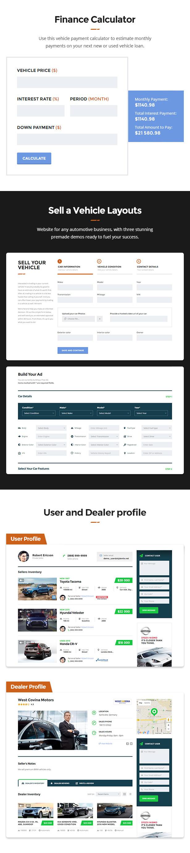 Motors - Car Dealer and Rental, Classified WordPress theme - 6