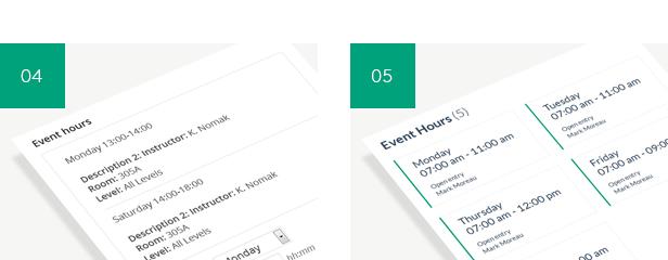 Timetable Responsive Schedule For WordPress - 8