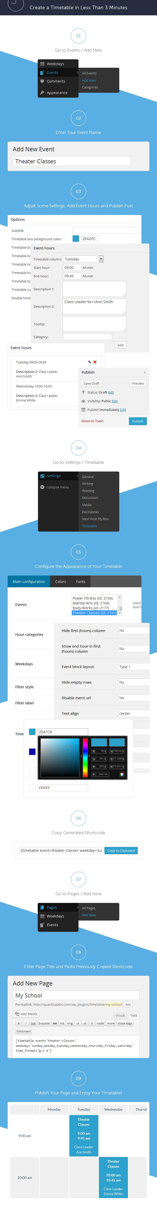 Timetable Responsive Schedule For WordPress - 13