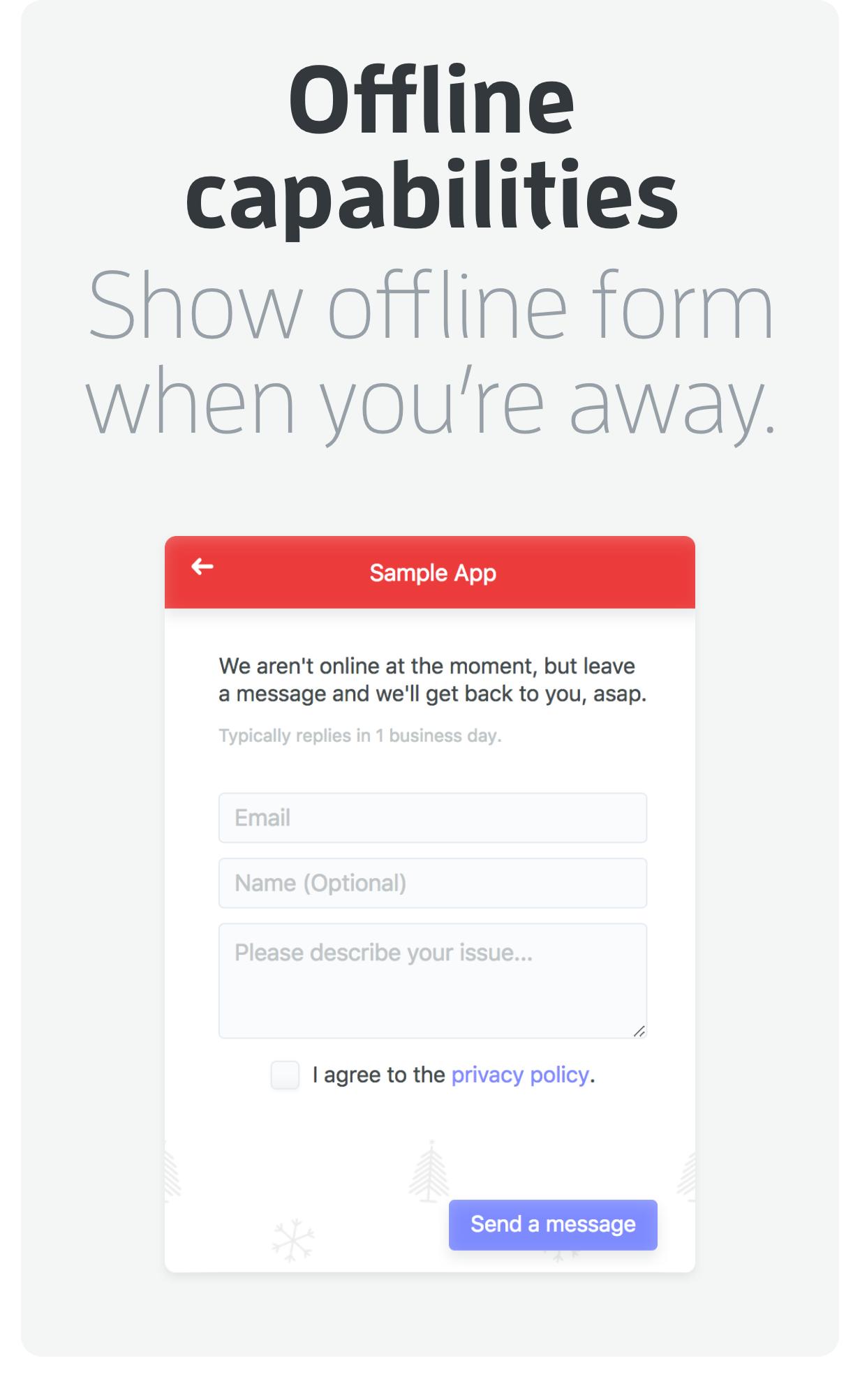 Offline capabilities