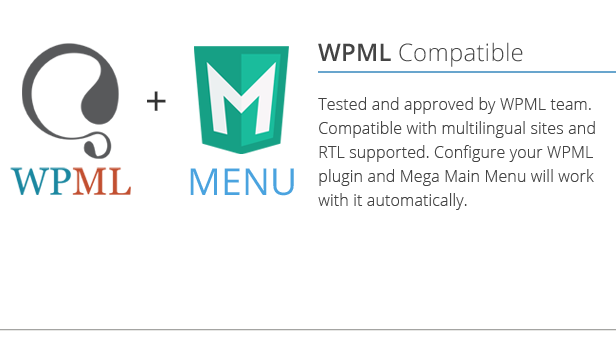 Mega Main Menu compatible with WPML
