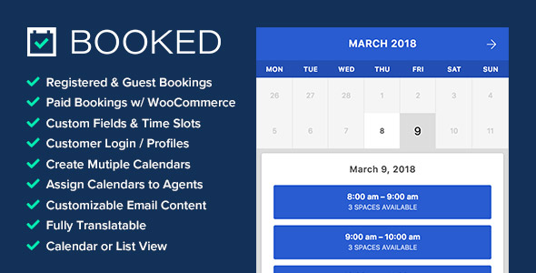 Booked - Appointment Booking for WordPress