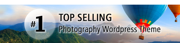 #1 Top Selling WordPress Photography Theme