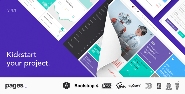 Pages - Admin Dashboard Template with Angular 6, Bootstrap 4 & HTML