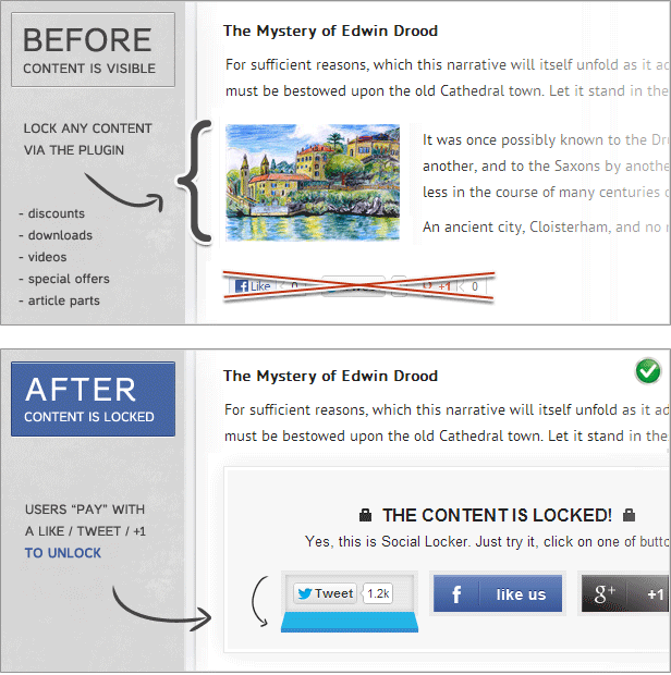 Social Locker for WordPress - 1