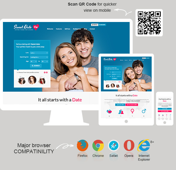 Sweet Date - More than a WordPress Dating Theme - 2
