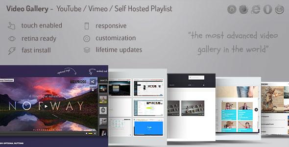 Video Gallery Wordpress Plugin /w YouTube, Vimeo, Facebook pages