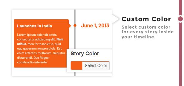 Custom Color Timeline