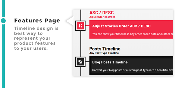 Features Page Timeline