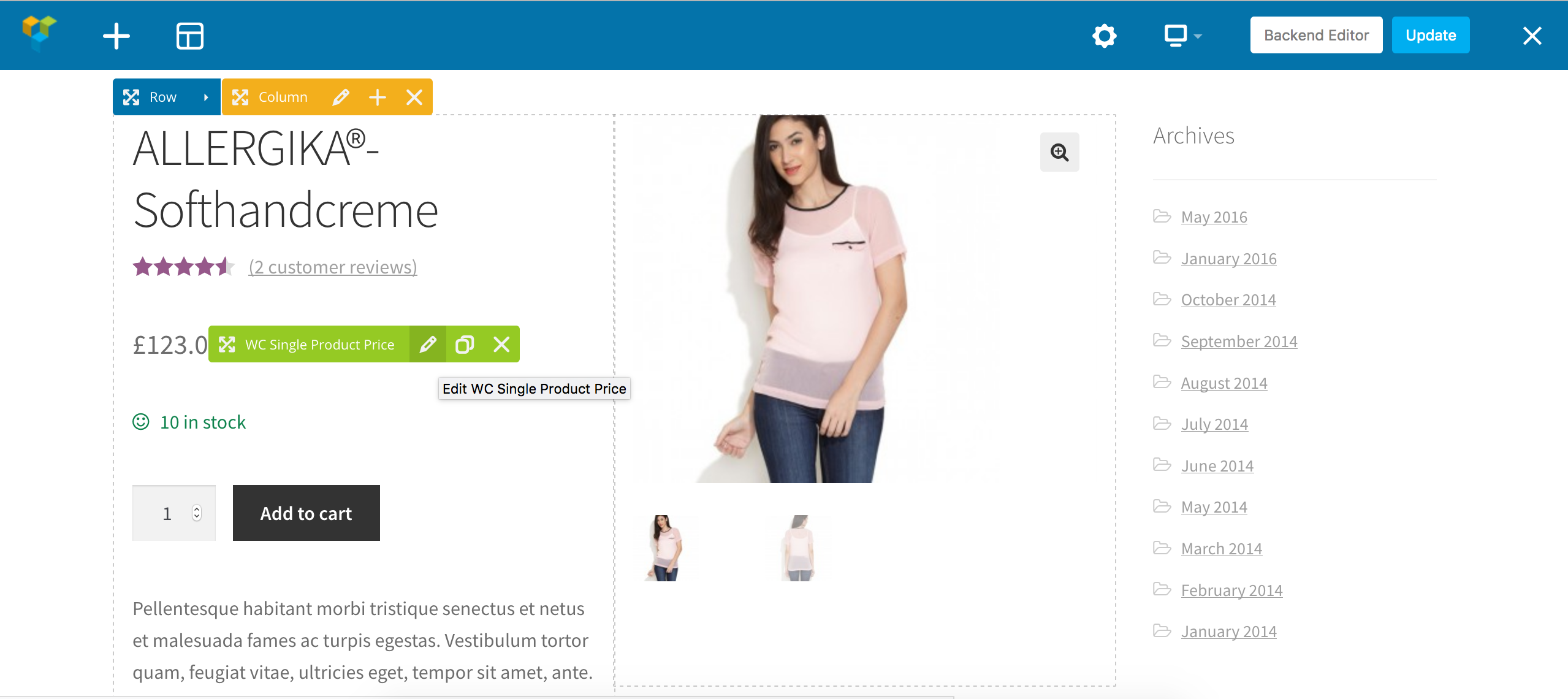 DHWCPage - WooCommerce Page Template Builder - 7