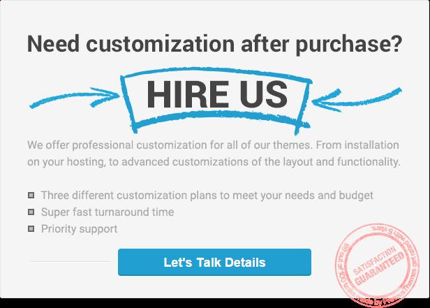 ProteusThemes professional customization