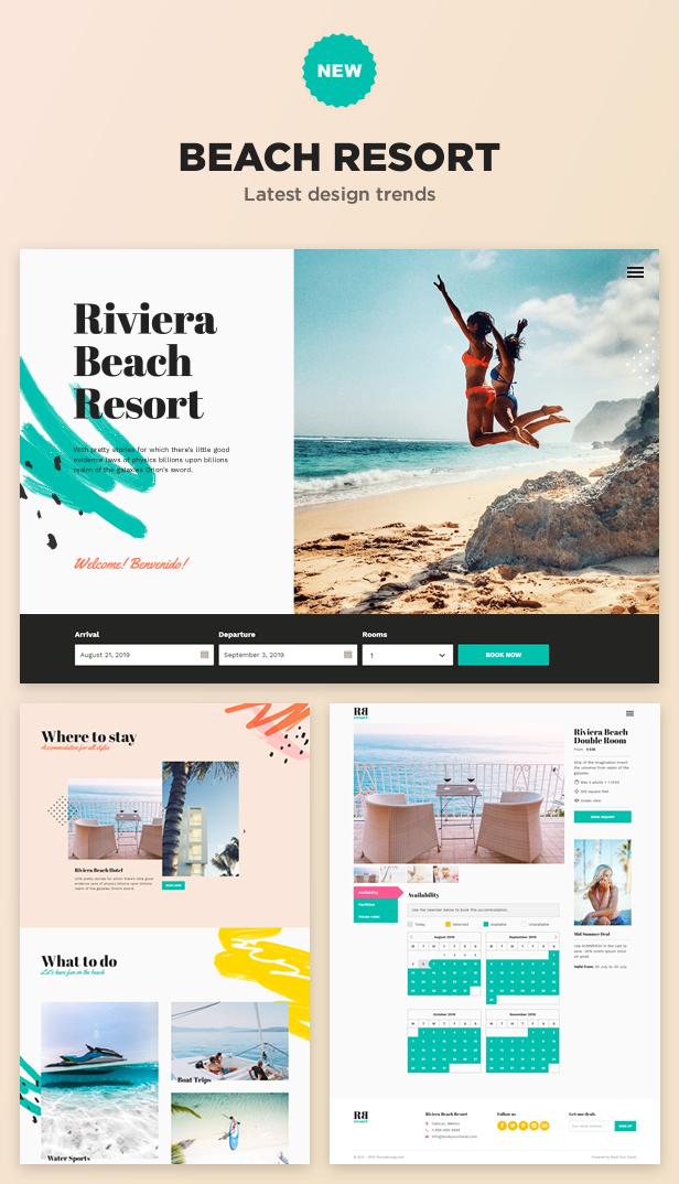 NEW: Beach Resort demo website