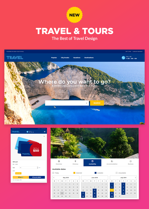 NEW: Travel and Tours