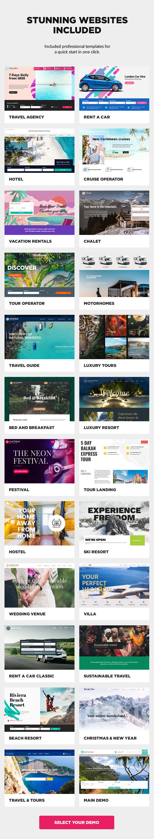 Multipurpose travel booking WordPress theme
