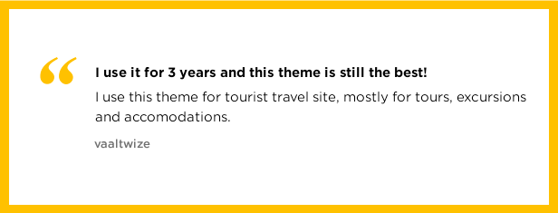 The best theme for a travel website