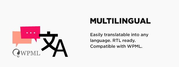 Multilingual, RTL and WPML ready